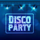 Night-club del partito di discoteca Immagini Stock Libere da Diritti