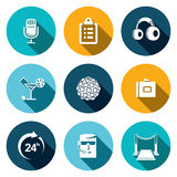Night Club flat Icons set Royalty Free Stock Photography