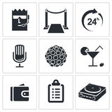 Night Club icon collection Royalty Free Stock Photo