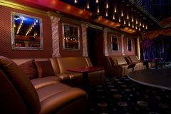 Night club interior. Picture of a Night club interior Stock Photos