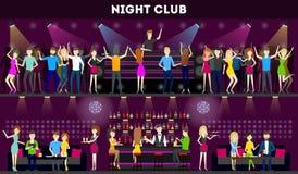 Night club interior set. Stock Photos