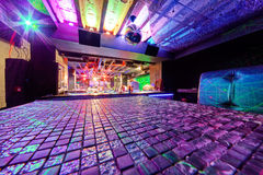 Night club. Interior of  night club with vivid colors Royalty Free Stock Image