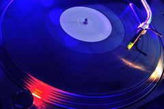 Night club life. Vinyl player Royalty Free Stock Photography