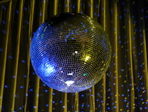 Night club lighting blue mirror-ball 1 Royalty Free Stock Photo