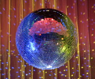 Night club lighting blue mirror-ball 2 Royalty Free Stock Photo