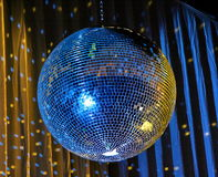 Night club lighting blue mirror-ball 3 Royalty Free Stock Image
