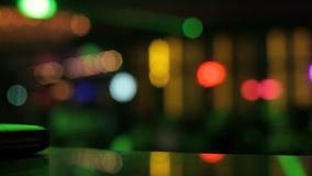 Night club lights. Colorful bokeh