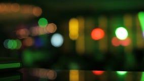 Night club lights stock video