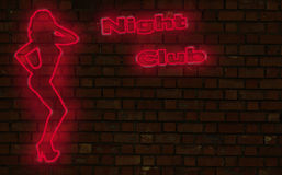 Night club neon Royalty Free Stock Photo
