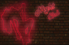 Night club neon sign Royalty Free Stock Photo