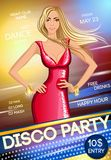 Night club party poster Royalty Free Stock Photo