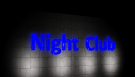 Night club sign Stock Photos