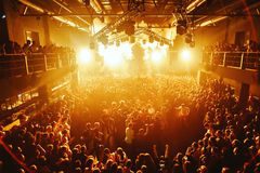 Night club silhouette crowd in mosh Royalty Free Stock Photography