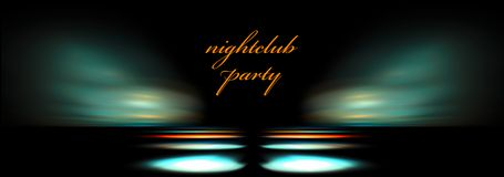 Night club template Stock Images
