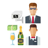 Night club vector icons Royalty Free Stock Photography