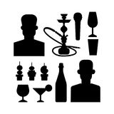 Night club vector icons Stock Image