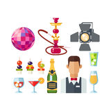 Night club vector icons Stock Photography