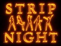Night club wall neon Stock Photos
