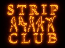 Night club wall neon Royalty Free Stock Photos
