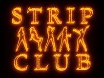 Night club wall neon Royalty Free Stock Photos