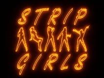 Night club wall neon Royalty Free Stock Photography