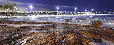 Night coast Stock Image