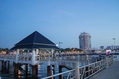 Night coast city Stock Photo