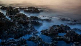 Night coast of Crete, Grece Stock Image