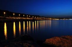 Night coast landscape Royalty Free Stock Image
