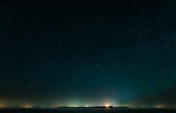 Night coast and Stars Royalty Free Stock Photography