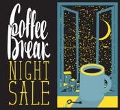 Night coffee cup Stock Photo