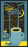 Night coffee cup Royalty Free Stock Photography