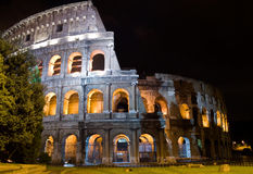 Night Coliseum. Illumination of the night Coliseum. Rome. Italy Stock Images