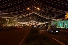 @ night in Colombo - Sri Lanka. Colombo - Sri Lanka ready to New Year 2019. Using LED bulb decorate the city. at night it`s so beautiful near the Town hall area royalty free stock photography