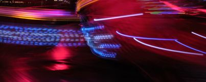 Night colors of the amusement park Royalty Free Stock Photos