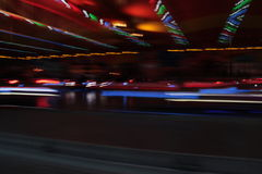 Night colors of the amusement park Stock Images