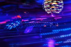 Night colors of the amusement park Royalty Free Stock Photography