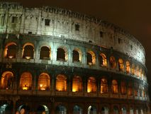 Night colosseum Stock Images