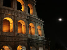 Night Colosseum in Rome Stock Image