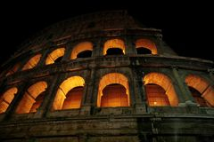 NIght Colosseum in Rome Stock Photo