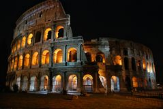 Night Colosseum, Rome Stock Photo