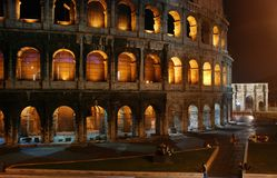 Night Colosseum, Rome Royalty Free Stock Images