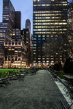 Night coming to Bryant park Stock Images
