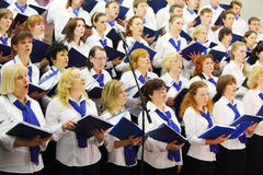 Night concert of Academic big chorus Stock Images
