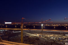 Night construction Stock Photography