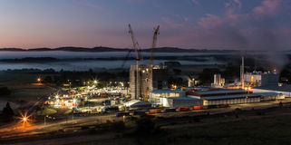 Night Construction Site Stock Image
