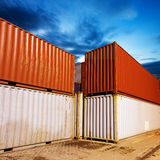 Night containers Royalty Free Stock Photos