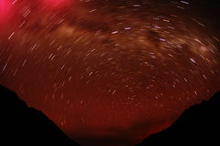 Night on Cordiliera Blanca. With Huascaran & Chopicalqui peak Stock Images