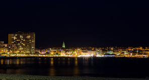 At night in the Costa Brava,Palamos Stock Photography