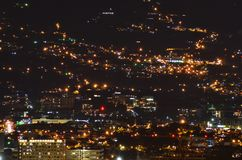 View of the city of San José. The night in Costa Rica royalty free stock image